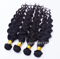 Queen hair products Virgin Brazilian Deep wave 1pcs lot Grade 5a 100% unprocessed human Hair 95-100g/pc Top Quality Free shiping