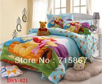 New 2013 Cartoon piglet bedding set,children duvet cover set,bed linen (quilt cover+ Right angle bed sheet+ pillow case)