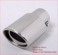 New Stainless steel Chrome Exhaust Muffler Tip For Toyota corolla 2009 2010 2011