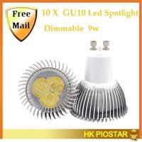 10 Pcs/lot 6w GU10 Led Spotlight  Dimmble AC85-265V White/Warm white  Led Lamps Outdoor Light Lamp Free Shipping