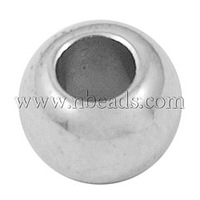 CCB Acrylic Beads,  Rondelle,  Nickel Color,  about 6mm long,  4.5mm wide,  hole: 2.5mm