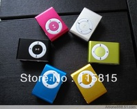 10PC a lot Fashoin  mini Metal Clip  mp3 player support  1GB 2GB 4GB 8GB micro sd card with Gift box+earphone+usb Freeshipping