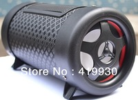 Free Shipping 2013 Fashion Portable FM Radio with Amplifer Speaker support SD Card/USB/AUX IN