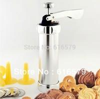Biscuit Cookie Making Maker Pump Press Machine Cake Decor + 20 Moulds 4 Nozzles