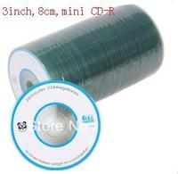 Free shipping,Blank disc  Banana(OEM) panda 8cm 3inch MINI CD-R Recordable  CD 2X-32X ,1case of 100CDs , 225M,25Min CD-R