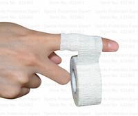 5rolls/lot  2.5cmx6.9m cotton Elastic adhesive bandage lightplast light weight stretch tape  light EAB finger tape