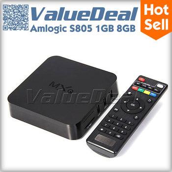 Original MXQ Amlogic S805 Quad Core Android TV Box Smart TV Receiver Media Player 1G RAM 8G ROM H.265 Decode WIFI Miracast DLNA