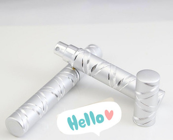 cosmetic bottle 4ML circular Silver /wholesale Perfume bottle nd /  travel set portable spray bottle glass bottle china