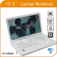 13.3'' Laptop  Netbook PC Intel Computer 13.3 inch Atom D2500 1.86GHz 500GB HDD 4GB RAM Dual Core