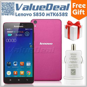 Original Lenovo S850 MTK6582 Quad Core Mobile Phone Android 4.4 3G Smartphone 13MP Camera 5.0inch Gorilla Glass 1GB RAM 16GB ROM