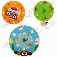 8PCS/LOT.Handmade wall clock craft kits,Home decoration,Home oranment.17cm,Family games.Kids toys.DIY toys. 4 design mixed.