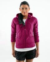 Free shipping lulu hoodies scuba hoodies Lady Sport  Athletic Jacket yoga wear coat Women's hoodies striped white grey