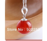 925 Sterling silver Natural agate  green/red/black Drop pendants, FREE SHIPPING Min.order is $15 (mix order) !WHOLESALE jewelry