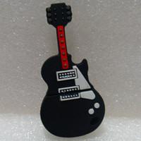 K-005 Wholesale Hot Cartoon Black Plastic Guitar Cute 4GB 8GB 16GB 32GB  USB 2.0 Flash Memory Stick Drive Thumb/Car/Pen Gift