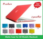 "High Quality Rubberized Fosted Matte Cover Case For Macbook All Models Air 11"",13"", Pro 13"",15"",New Retina, Wholesales,Free Ship(China (Mainland))"