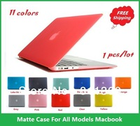 "High Quality Rubberized Fosted Matte Cover Case For Macbook All Models Air 11"",13"", Pro 13"",15"",New Retina, Wholesales,Free Ship"