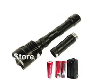 Trustfire 3T6 Flashlight 3800 Lumen CREE XM-L T6 LED Flashlight (extended tube +3 X18650 battery + charger EU US) 5 Modes
