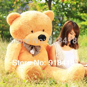 80cm Teddy bear coat/skin, empty inside,3colors for chose,Christmas gift,stuffed plush animal ,birthday gift Free Shiping
