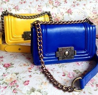 Genuine Leather Oil Cowhide Chain Fashion Casual Vintage Women's Mini Handbag Bag From Chian