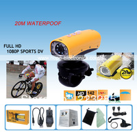 Free Shipping FHD 1080P 15M Pixel waterproof Hunting Camera Bicycle Camera Video Camera SPORT DVR for Outdoor