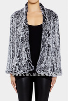 Free Shipping New Arrive Hot Sale YR-421-A Top Quality Real Rabbit Knitted Fur Jacket