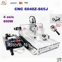 110V/220V  4 axis CNC Engraving Machine CNC 6040 Z-S65J, CNC Router Engraver, also have 3040 z-dq,3020 t-dj,cnc milling machine