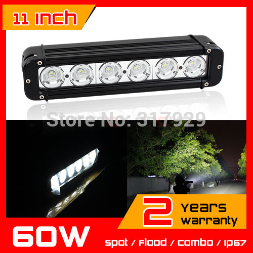 11 inch 60W 60 Watt Cree LED Work Light Bar 4x4 truck tractor offroad fog light LED Bar Spot light boat UTV ATV Drive Light(China (Mainland))