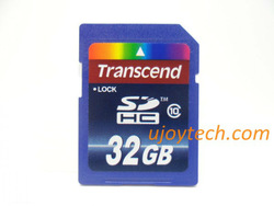 Class 10 Real 8GB 16GB 32GB 64GB SDHC card High Quality Transcend SD Camera Memory Card+Package+Free Shipping+Gift card reader(China (Mainland))