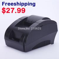 Free shipping New mini 58mm thermal receipt printer ticket pos 58 thermal printer USB(black/white)