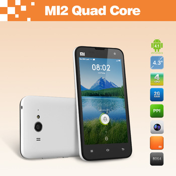 "Original 4.3"" XIAOMI MI2 M2 Android Phone APQ8064 Quad Core IPS Retina Screen WCDMA 3G Smartphone 2GB RAM 16GB ROM Dual Camera"