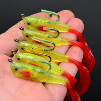 "10pc/lot soft bait 1colors fishing bait Soft lures 50.8mm-2.5"" fishing tackle 0.157oz-4.45g fishing lure Free Shipping"