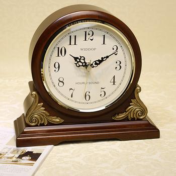 2013 Newest Anique Style High Quality Tabletop Clock Super Mute Movement Quartz Clock Wooden Clock Music Chime Desktop Clock