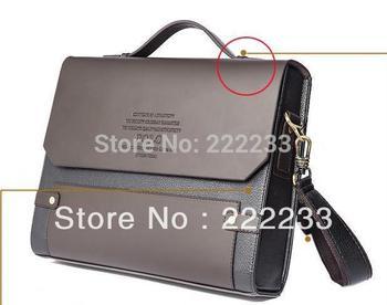 Top quality men brand messenger bag vintage leather Briefcase one shoulder cross body bags :33cmX28cmX8cm(handle)