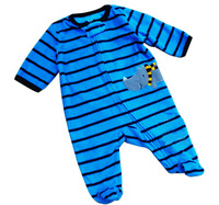 2014 Seconds Kill Character Open Stitch Baby Boys New Baby Toddler Clothing Polar Fleece Fabric Stripe Jumpsuit Climbing Romper
