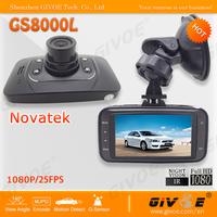 Original Novatek Car Camera DVR Recorder GS8000L support 1920*1080P +140 Degree Wide Angle Glass Lens + 2.7'' Screen + G-Sensor