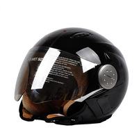 Free shipping +Jet Helmet BEON helmey.type-B001.half face safety motorcycle helmet..color:glittery black