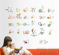 26 Animals Alphabet Baby Kids Nursery Wall Art Sticker Vinyl Decals Boys Girls Home Room Decor Decorations Removable Educational