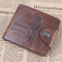 Free Shipping Fashion Men's PU Leather Wallet Man Cheap Purse Male Pocketbook Card Holder 12.5*10*1.5cm