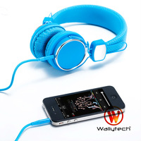 Wallytech Free Shipping High quality For iPhone 5 Headphone Galaxy S4 Headphones with microphone & On/off button for (WTE-523)