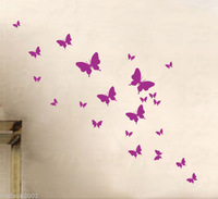 (Minimum order $5) (Various colors) Butterfly Decor Mural Art Wall Sticker Decal Y361