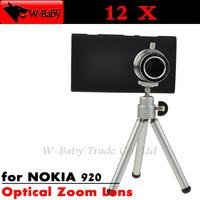 12x optical zoom lens Telescope lens camera for NOKIA Lumia 920 with tripod / case Mobile phone lens,Nice Gift,1 pcs