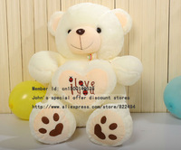 2013 Authentic bear Plush doll pillow  birthday present Baby bear for children  large doll beige plush toys Free shipping