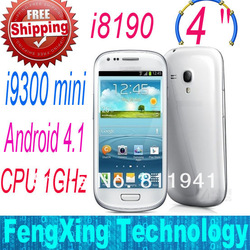 HOT i8190 (mini i9300 s3) 5MP Smart Phone Android 4.1 MTK6515 1GHz 4.0 Inch Capacitive Screen Android (Free shipping China Post)(China (Mainland))