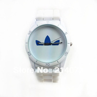 2013 best seller three leaf grasses Jelly watches, beautiful fashion watch, Silicone band watch sports watches