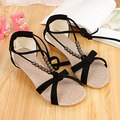 Hot selling summer sandals for women 2013 Korean casual beaded straps Roman low-heeled women's shoes