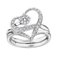 Stock The couple models jeweled 130 Korean jewelry full of created diamond Gigi Happy Rings