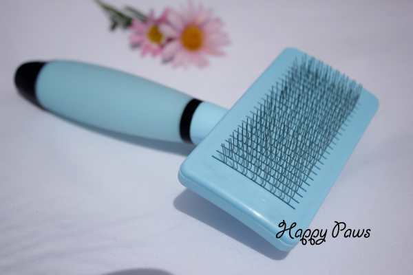 Dog Self-cleaning slicker brush with silica gel handle Remove mats effectively Pet cleaning brush Pet groomer Free Shipping(China (Mainland))