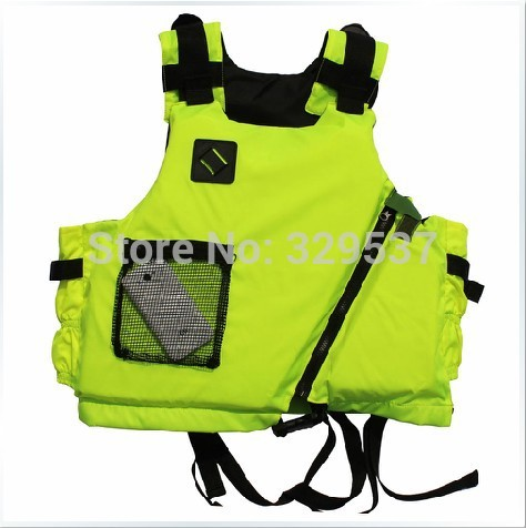 Free shipping New brand Kayak Life Jacket Buoyancy aids,Surfing Lifejacket,life vest, Fluorescent yellow and orange(China (Mainland))