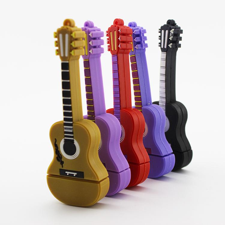 100% real creative spanish guitar shape USB Flash Drive pen drive memory stick 2GB 4GB 8GB 16GB 32GB 64GB pendrive free shipping(China (Mainland))
