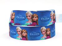 "Free shipping 7/8"" 22mm Frozen Printed Grosgrain ribbon,Clothes Accessories DIY handmade 50 yardslot XZD--1664 XY RIBBON"